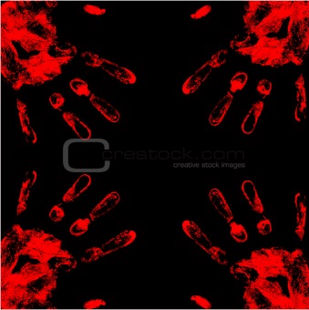 vector blood hand background