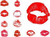 vector kiss icons