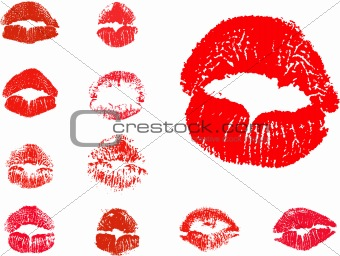 vector kiss icons