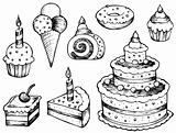 Cakes drawings collection