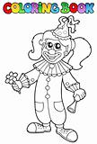 Coloring book with happy clown 5