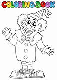 Coloring book with happy clown 7