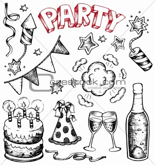 Image 4477636: Party drawings collection 1 from Crestock Stock Photos