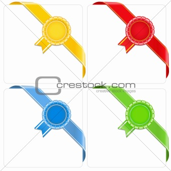 Award corner ribbons