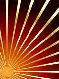 red and gold vector abstract background