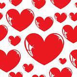 Seamless wallpaper, heart.