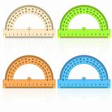 protractor ruler on a white background.