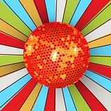 Retro shining disco ball