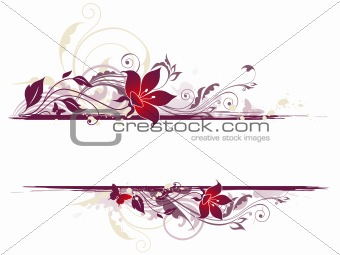 floral background with violet flowers