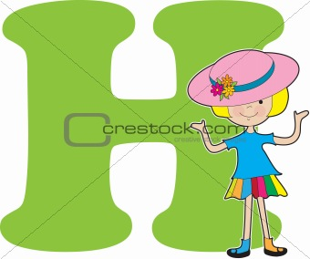 Alphabet Girl H