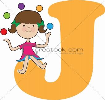 Alphabet Girl J