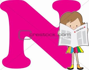 Alphabet Girl N