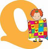 Alphabet Girl Q