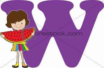 Alphabet Girl W