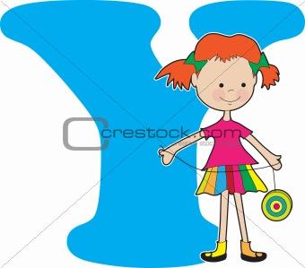 Alphabet Girl Y