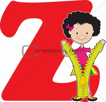 Alphabet Girl Z