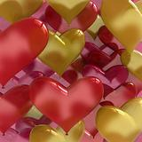 heart shaped love balloons