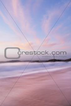Spanish dusk seascape.