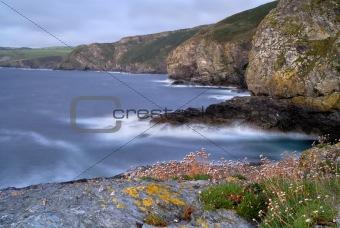 Cornwall Rocky Coast Seascape, UK