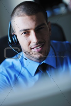 businessman with a headset