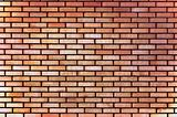 Red yellow beige tan fine brick wall texture background