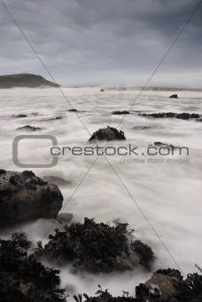 Cornwall Seascape Greenaway Beach.