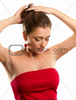 Woman In Red Dress