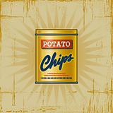 Retro Potato Chips Can