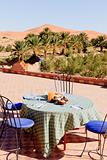 Breakfast in the Desert on the roof