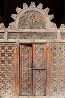 A doorway in Ali Ben Youssuf Madressa