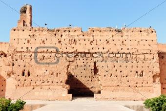 Ancient wall at El-Badi Palace