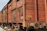 Old freight railway wagon