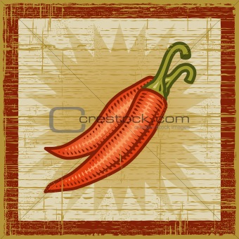 Retro chili pepper