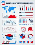 Election infographic design elements