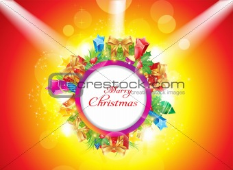 abstract christmas banner with spot light