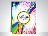 abstract colorful dotted flayer