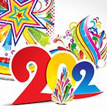abstract colorful new year explode background