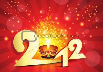abstract explode 2012 new year background