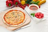Italian original thin crust pizza