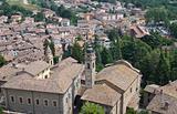 Panoramic view of Castell'arquato. Emilia-Romagna. Italy.