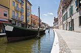 View of Comacchio. Emilia-Romagna. Italy.