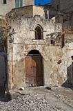 Abandoned church of Matera. Basilicata. Italy.