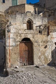 Abandoned church of Matera. Basilicata. Italy.
