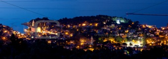 Adriatic town of Veli Losinj panoramic view