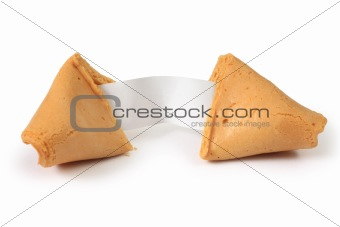 Fortune cookie opened