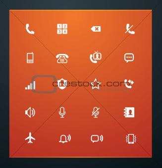 Universal glyphs 12. Phone symbols 1