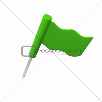 Green flag pin
