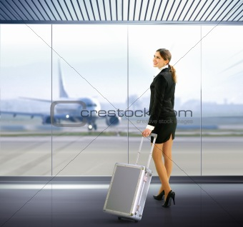 traveler with luggage