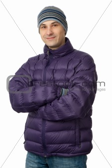 man in stylish winter clothes