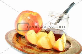 apple with Honey jar